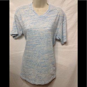 Women's size Medium RUSTIC BLUE v-neck tee